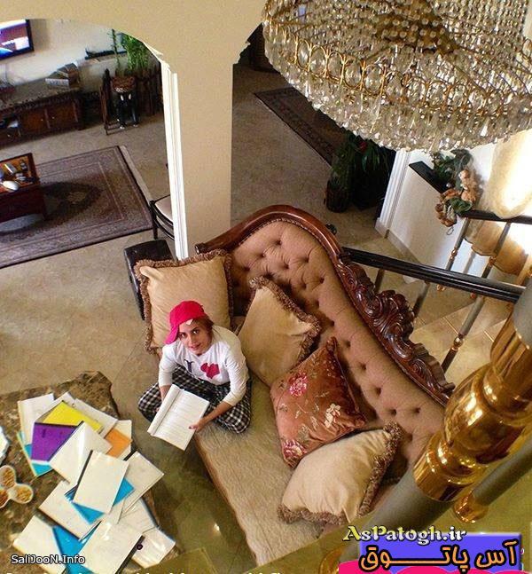 عکس لو رفته الناز شاکردوست در نمایی از منزلش